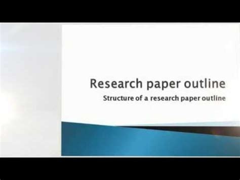 How to create a thesis for research paper
